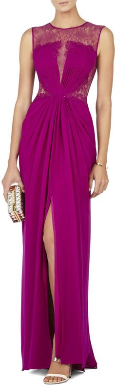 Lace Yoke Gown
