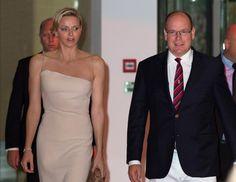 Le Prince Albert de Monaco et sa femme Charlène de Monaco