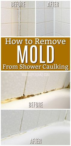 How to clean black shower mold permanently This pin shows how to