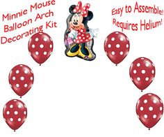click pin for Minnie Mouse Balloon Arch DIY kit. Easy to Assemble. Requires Helium.