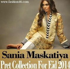 In this awesome stuff post we are going to share with our readers Latest Sania Maskatiya Eid Dress Collection 2014. For the coming Eid 2014 there are a lot of brands and fashion designers who are coming forward with their Eid collections. Sania Maskatiya has newly showcased its Eid dress collection 2014.