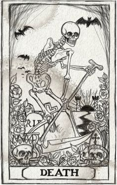 Death Card Tarot stretched canvas print by ShayneoftheDead on Etsy, $25.00