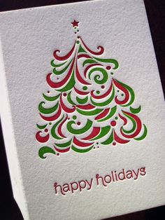Holiday Letterpress Cards.