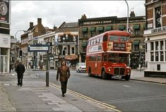 Turning from Fulham Broadway into Harwood Road, AEC Routemaster No. RM 1865 works route 11 on June © David Rostance - All rights reserved. London Bus, London Street, London Life, London History, Local History, Vintage London, Old London, Life In The 70s, Routemaster
