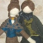 Art Dolls Needle Felted Pupillae made of natural wool and natural fabric