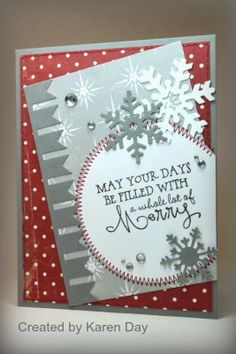 Card by Karen Day using Merry & Bright from Verve.  #vervestamps