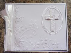 Communion card - crosses of hope Confirmation Cards, Baptism Cards, Christening Card, First Communion Cards, Première Communion, Christian Cards, Christian Baptism, Embossed Cards, Sympathy Cards