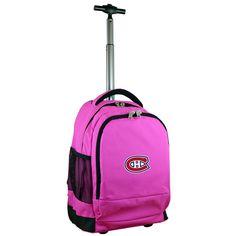 NHL Mojo Montreal Canadiens Wheeled Backpack - Pink