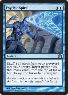Psychic-Spiral-FOIL-x4-Magic-the-Gathering-4x-Return-to-Ravnica-mtg-card-lot