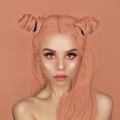 """54.4k Likes, 135 Comments - Lime Crime (@limecrimemakeup) on Instagram: """"Everything is just peachy Look via @snitchery wearing #VENUS2 and 'Gold' from HI-LITE Opals."""""""