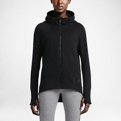 WARMTH WITHOUT WEIGHT The Nike Tech Fleece Full-Zip Women's Hoodie is made with lightweight fleece that locks in warmth and seams that contour to your body for a modern, sle Nike Tech Fleece, Tech Fleece Hoodie, Full Zip Hoodie, Nike Shoes Cheap, Cheap Nike, Outfits 2016, Sport Outfits, Weekend Outfit, Minimal Fashion