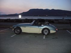 Evening at Spanish Banks Beach, Vancouver, with the Austin-Healey