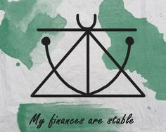 Sigil : My finances are stable Sigil Magic, Magic Symbols, Sacred Symbols, Wiccan Spell Book, Chakras, Protection Symbols, Wicca Witchcraft, Practical Magic, Magic Words