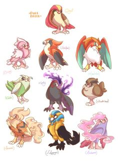 Pidgeot Variation - Pokemon by LightBell