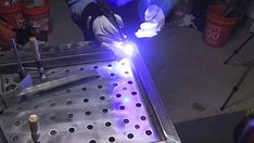 Welding Distortion ~ Tips for Keeping it Square ~ Welding Tips and Tricks Welding Crafts, Welding Jobs, Arc Welding, Welding Table, Welding Art, Working Area, Metal Working, Welded Metal Projects, History Of Welding