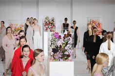 Raf Simons ~ Jil Sander show A/W 2012 ~ flower arrangement by florist Mark Colle #belgium