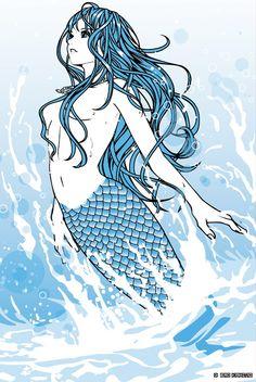 2009.06 mermaid Illustration: Eri Kamijo