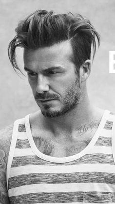 Man Haircuts Haircut Men Style Hairstyles Hair Styles Beard David Beckham Medium Length