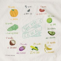 Growing Belly Tea Towel | baby shower gift, gift for mother | UncommonGoods