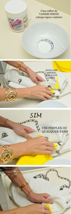Como limpar bolsas de couro de cores claras: