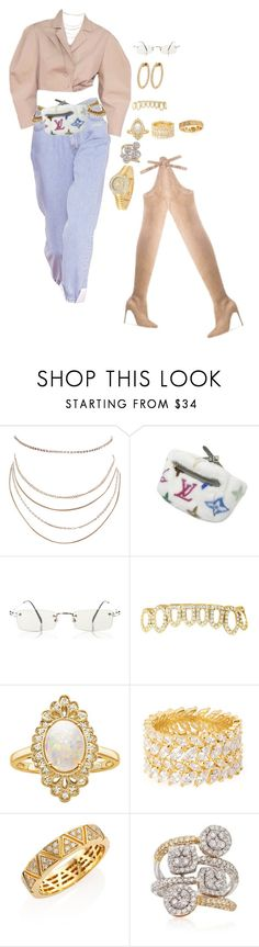 """""""Untitled #4395"""" by mollface ❤ liked on Polyvore featuring Humble Chic, Louis Vuitton, Jean-Paul Gaultier, Effy Jewelry, Henri Bendel, Marina B, Ross-Simons and Rolex"""