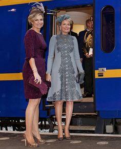 Queen Mathilde and Queen Maxima