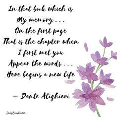 La Vita Nuova by Dante Alighieri  For more love poems, follow > @dailyloveminder for #lovepoems #lovepoetry #love #dailyloveminder