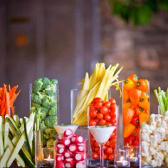 this is my favourite! Fancy veggie tray