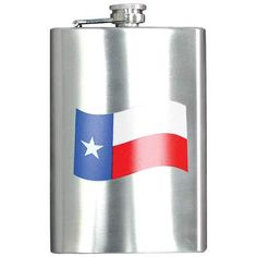 Maxam® 8oz Stainless Steel Flask with Texas Flag Design