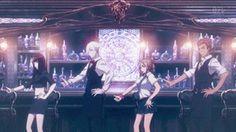 Decim, Chiyuki, Ginti, Mayu, funny, gif, dancing; Death Parade