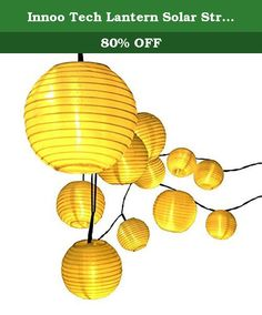 Innoo Tech Lantern Solar String Lights Outdoor Globe Lights 14.4ft 20 LED Warm White Fabric Ball Christmas Lights for Garden Path Party. Summer is coming. Time to light up your Patio, Lawn & Garden during the best season! But the problem is - What kind of lights and what color to choose when facing with hundreds and thousands of choices? The best answer is - Innoo Tech Fabric Lantern Ball String Lights . ★ The lanterns are made of tarpaulin which is totally waterproof . ★ Tested and...