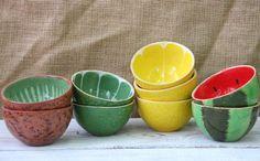 Набор фруктовых керамических пиал