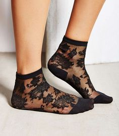 Urban Outfitters Patterned Sheer Ankle Sock