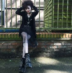 Deathrock Fashion, Goth Look, Luanna, T Dress, Alternative Outfits, Gothic Fashion, Aesthetic Clothes, Daily Fashion, Style Inspiration