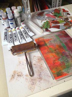 Dudley Redhead: Gelli plate printing once more [no.10]