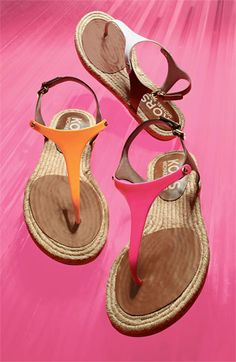 Perfect Vacation Sandal. Thanks Michael Kors.