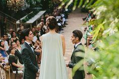 A Greenery-Filled Hawaiian Wedding in a Historic Sugar Mill Lesbian Wedding, Boho Wedding, Beautiful Couple, Celebrity Weddings, Hawaiian, Greenery, Couples, Celebrities, Wedding Dresses