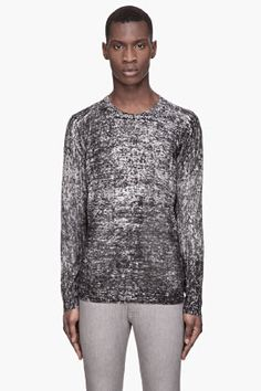 4d1b32eaa1b7 SLVR - MOTTLED BLACK AND GREY KNIT SWEATER Sweater Fashion