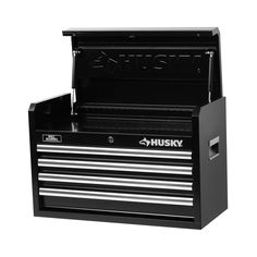 $69- Husky 26 in. W 4-Drawer Tool Chest, Black