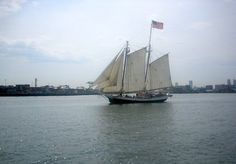 Tall Ship Liberty Clipper on a cruise in Boston Harbor /  Tall Ship Cruise  - www.boston-discovery-guide.com