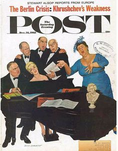 The Saturday Evening Post December 16 1961 Dick Sargent Vintage Americana Art
