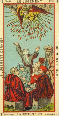 The Book Of Thoth (Etteilla Tarot) (LS) - rozamira tarot - Álbumes web de Picasa Judgement Tarot Card, Yi King, Vintage Tarot Cards, Divination Cards, Tarot Major Arcana, Tarot Card Decks, Oracle Cards, Occult, Illustration Art