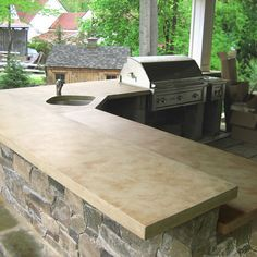 concrete countertops - i was thinking these would be cool in the