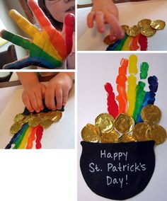 At the End of the Rainbow (St. Patrick's Day craft) @Natasha C Kennedy