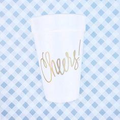 Cheers Foam Cups Qty 24 by NatalieChangStudio on Etsy