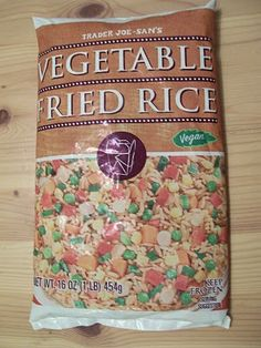 Trader Joe's Vegetable Fried Rice - looks yummy! Haven't tried yet but want to. Add shrimp or chicken