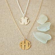 monogram necklace pottery barn