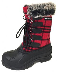 ace390c98 online shopping for Women's Winter Boots Cold Weather Insulated Flannel  Plaid Lace Waterproof Snow Fur Duck Shoes from top store. See new offer for  Women's ...