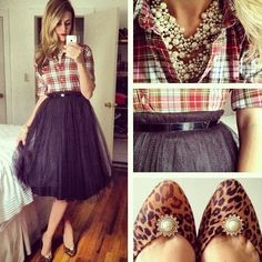 Tulle, animal print, and plaid. I'm in love