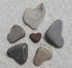 Heart Shaped rocks by ABEACHHEART on Etsy